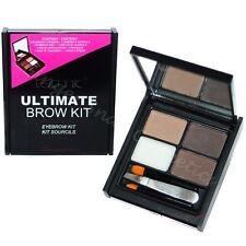 Technic EYEBROW KIT Brow Makeup Palette Set Powders Wax Tweezers Angled Brush