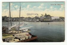 [60515] 1913 POSTCARD BOATS ON THE WATER FRONT IN BREWER, MAINE