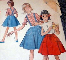 *LOVELY VTG 1960s GIRLS BLOUSE & SKIRT Sewing Pattern 8