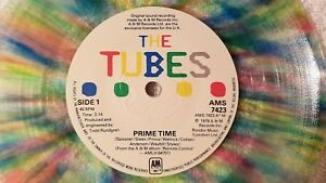 """THE TUBES Prime Time / No Way Out UK 7"""" PS Single 45 ON MULTI COLORED VINYL Rare"""