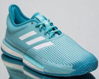 adidas SoleCourt Boost x Parley Men's New Blue Spirit White Tennis Shoes CG6339