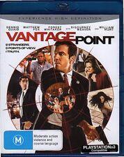 VANTAGE POINT - BLU-RAY ALL REGIONS (2008) Dennis Quaid LIKE NEW - FREE POST