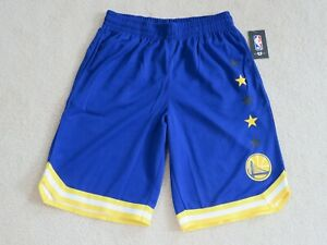 NBA.com NBA Golden State WARRIORS Work-Out Fitness Basketball Shorts Men M NEW^