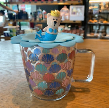 Starbucks 2020 Colorful Scallop Shell Glass Cup With silicone lid Coffee Mugs
