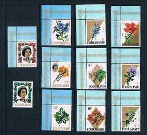 """Aitutaki - 1972 - Flowers Ovprtd """"Aitutaki"""" - SC 37-47 [SG 33-42,48] MNH G8"""