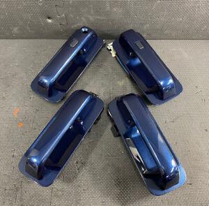 🔥⭐ OEM 2015-2020 FORD F150 EXTERIOR KEYLESS ENTRY DOOR HANDLE SET BLUE JEANS N1