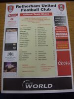 14/03/2006 Colour Teamsheet: Rotherham United v Oldham Athletic. Thanks for view