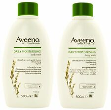 2 x Aveeno Body Wash - 500ml for dry sensitive skin (Colloidal Oatmeal)