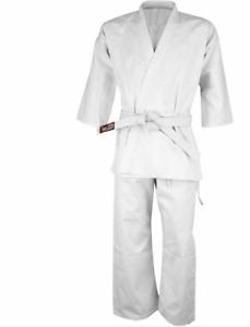 Karate Uniform Suite for Kids and Adults Karate Gi 8oz Martial Arts  White Belt