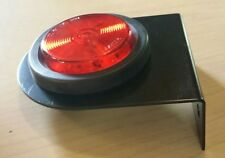 "2 1/2"" Round Red Marker Light 13 LED - Grommet, Plug & Bracket ~ Truck ~ Trailer"