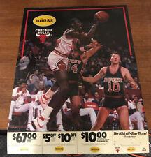 1984/85 MICHAEL JORDAN CHICAGO BULLS MIDAS ADVERTISING POSTER