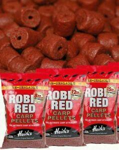 Dynamite Robin Red Pre-Drilled Carp Pellets 8/12/15 900G *CARP MATCH* -Free Del.