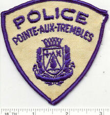 Pointe-Aux-Trembles Police (Canada) Shoulder Patch from the Early 1980's