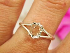 SIZE 7 AAA+ GRADE 6x8 mm NY Herkimer Diamond Crystal Sterling Silver RING T38