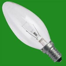 4x 40W Clear Candle Dimmable Filament Light Bulbs, E14, SES, Small Screw Lamps