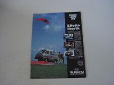 advertising Pubblicità 1992 SUBARU LIBERO 4WD