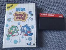 Sega Master System Bubble Bobble OVP Original Verpackung  EUR version PAL rar