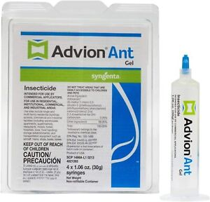 Advion Ant Gel Bait Insecticide  - 4 tubes x 1.06 Oz. Syringes - Ant Control