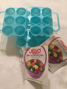 2 Vintage New/Never Used Jello Easter Egg Jiggler Molds