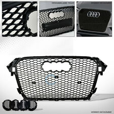 Fit 13-16 Audi A4/S4 B8.5 Glossy Blk RS-Honeycomb Mesh Front Bumper Grill Grille