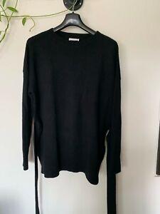 Kookai wool black knit with waist tie - size 2