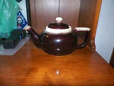 Brown Drip Art Pottery Tea Pot Gourmet Style Pfaltzgraff USA 550 Vintage
