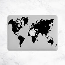 World Map Decal for Macbook Pro Sticker Vinyl air mac 13 15 11 travel laptop fun