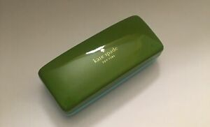 Brand New KATE SPADE Green & Blue Large Hard Sunglasses Case