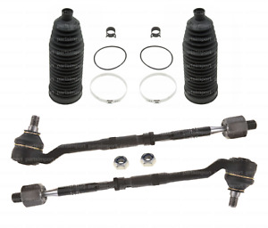 Tie Rod Assembly Set L+R Rods Ends + Rack Boots Kit for BMW E53 X5 (00-06)