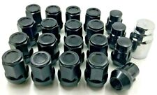 16 X ALLOY WHEEL NUTS + LOCKERS BLACK FOR VOLVO M12 X 1.5 19MM HEX,BOLTS [3 38]