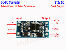 ±12V Dual Output DC-DC Converter Step Up Boost Voltage 3.3V 3.7V 4.2V 5V to 12V