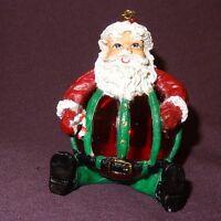 "Santa Claus Ornament His Body is the Ball Globe Christmas 3"" Resin"