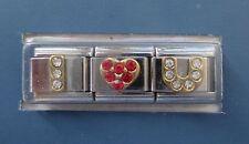 d I love you heart Italian LINK bracelet charm