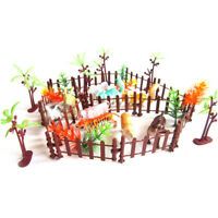 32pcs Plastic Animals Simulation Zoo Containing Various Kinds Fence Kids Toy N_N