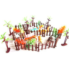 32pcs Plastic Animals Simulation Zoo Containing Various Kinds Fence Kids Toy_wk