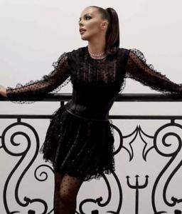 GIAMBATTISTA VALLI x H&M SHORT TULLE DRESS HOLIDAYS PARTY UK 6 EUR 34 US 2