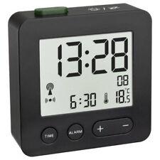 TFA Wecker Digital LED Beleuchtet Alarmwecker Funk Uhr Datum Schlummer Alarm neu