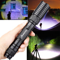 Tactical Police 990000Lumens T6 LED 5 Modes 18650 Flashlight Military Zoom Torch