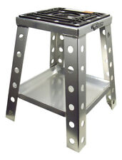 Pit Posse Off Road Universal Motorcycle Motocross Dirt Bike Stand w/ Tray Silve