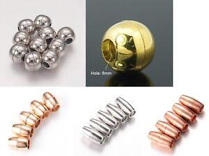 2 Magnetverschlüsse Magnetic Clasp magnetic Schließe gold silber schwarz