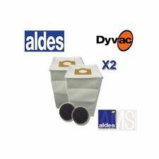 Sacs x 2  Aldes  30 litres + filtres DYVAC