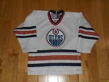 Vintage 90s CCM Maska EDMONTON OILERS Youth NHL Hockey Team Replica JERSEY S / M