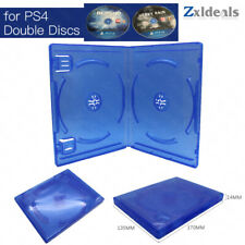 Replacement Case for PS4 Game Double Disc Spare Blue Game Blu Ray Box 2 CD