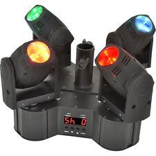 4x Quad 10W LED Moving Head Spot Light System – DMX Stage Lighting Sound Club DJ