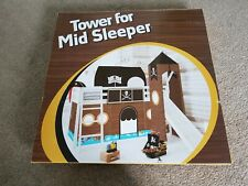 Kids bed pirate tent and stair tower