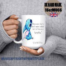 Disney lilo and stitch cartoon ohana means famiy Large 15oz coffee Mug Handmade