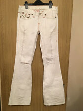 White Ripped True Religion Womens Bootcut Jeans - Size 28