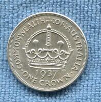 1937 Crown 5 Shillings Silver George VI Coronation Commemorative  L-192