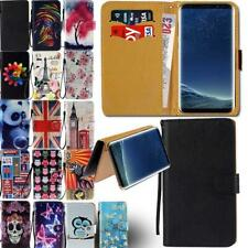 Leather Smart Stand Wallet Cover Case For Samsung Galaxy S6 S7 S8 Phones