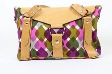 Miu Miu Tan/Pruple Purse Handbag Shoulder Bag